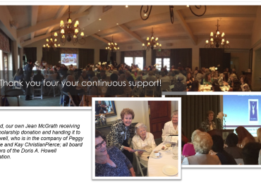 Howell Foundation Honored at Soroptimist's Annual Award Ceremony