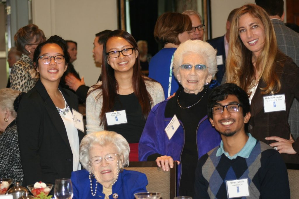 Howell Foundation - Dr. Doris Howell with Howell - UCSD Scholarship Recipients