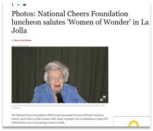Founder of the Howell Foundation recognized by CHEERS Foundation