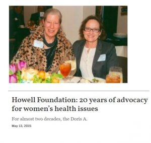 Howell Foundation News - 20 Years of Advocacy Article