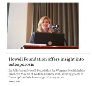 Howell Foundation News - Osteoporosis Expert Presentation