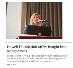 Howell Foundation News - Osteoporosis Expert Presentation