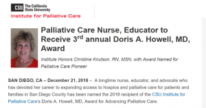 Howell Foundation News - Nurse and educator recieves 3 award named after Dr. Howell