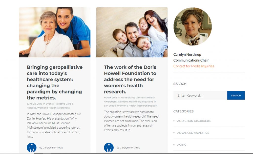 Women's Health Research, Home