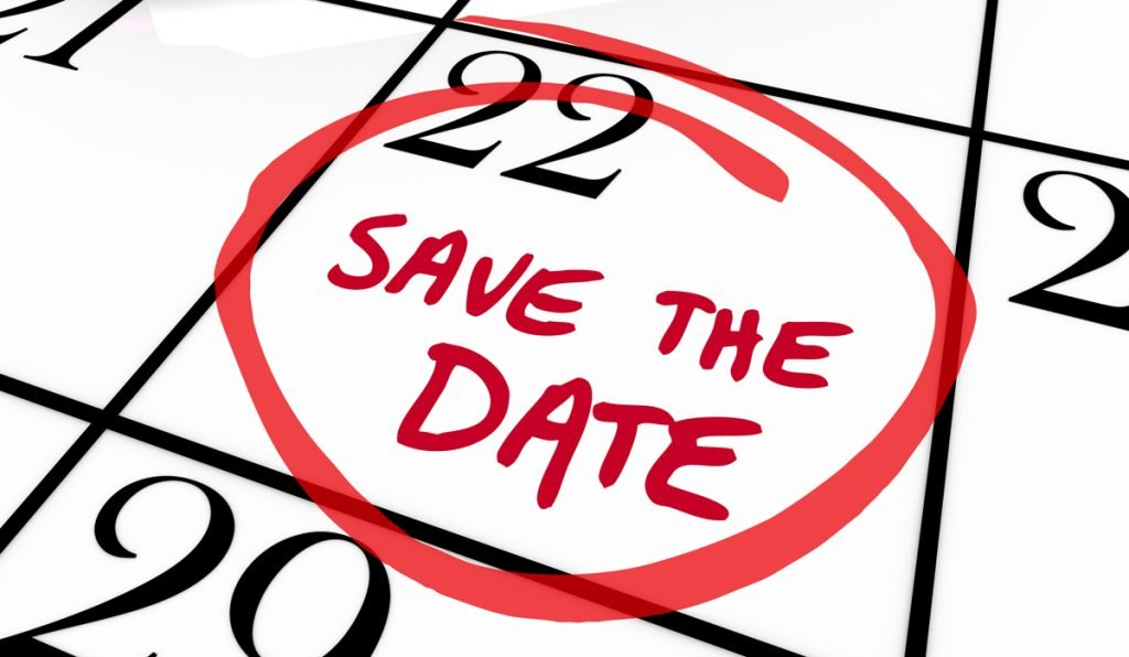 upcoming event - save the date calendar
