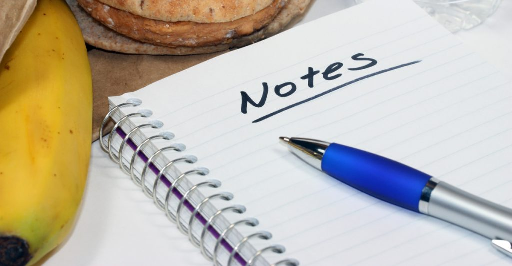Outreach Speaker Services - notepad with lunch